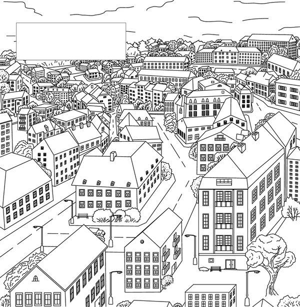 49 карточек в коллекции раскраски антистресс город