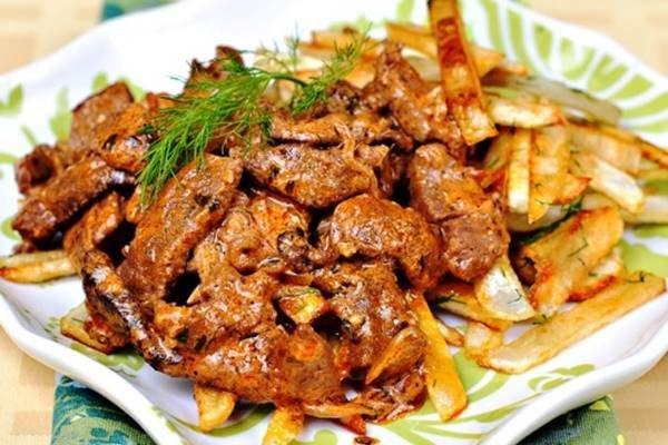 рецепт бифстроганы из говядины со сметаной и горчицей
