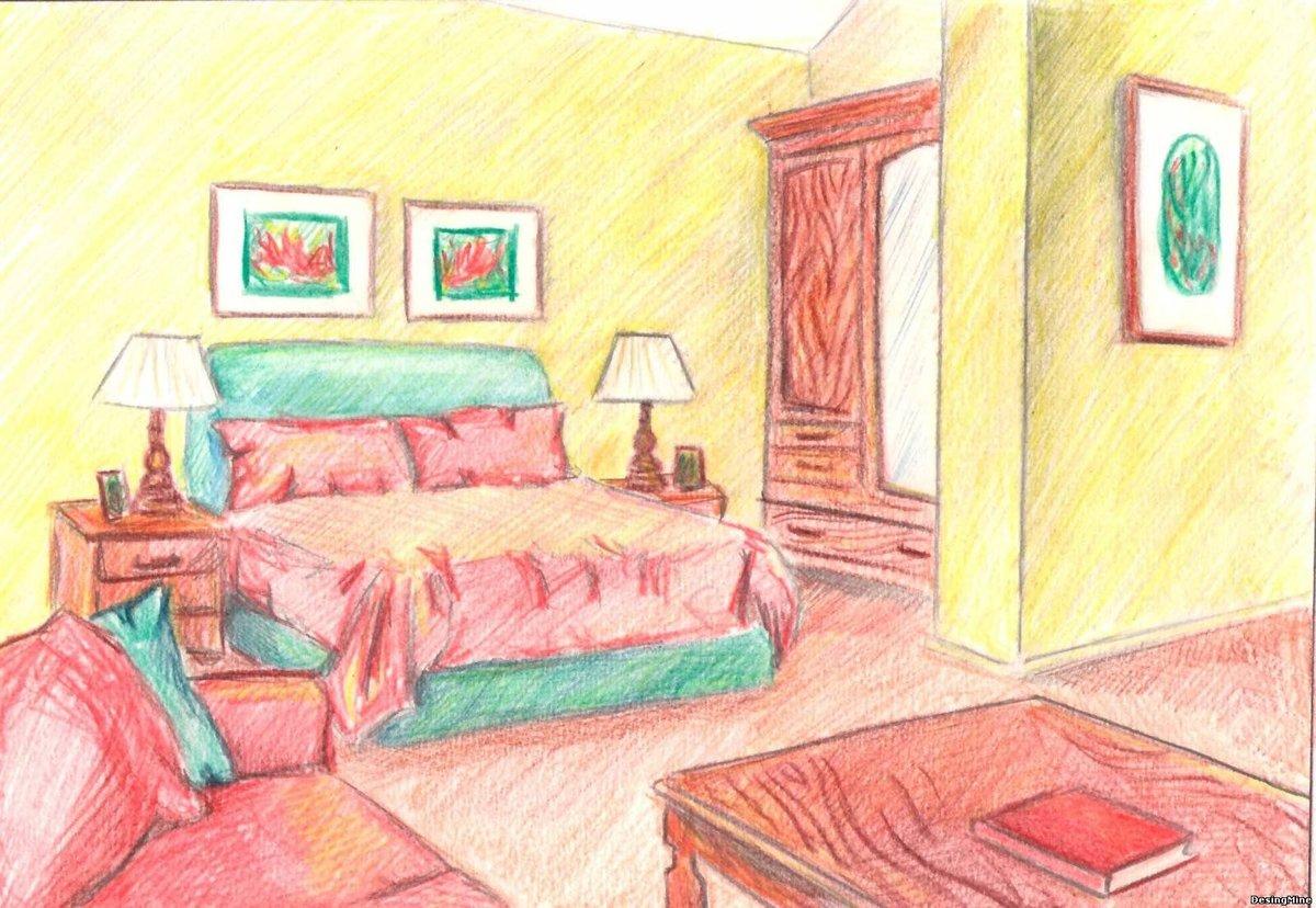 рисунки интерьеров комнат иванович нашел способ