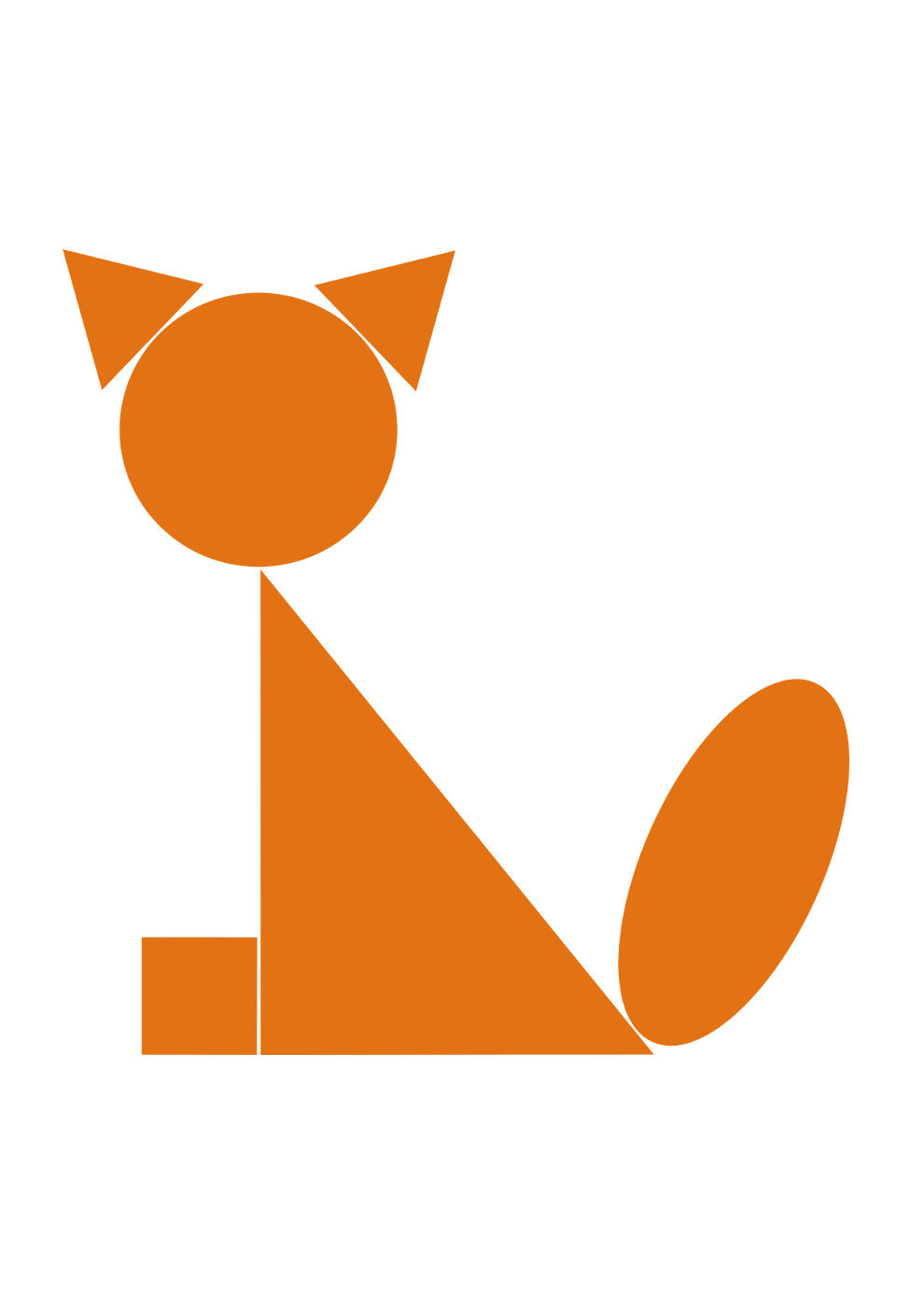 Картинки лиса из геометрических фигур