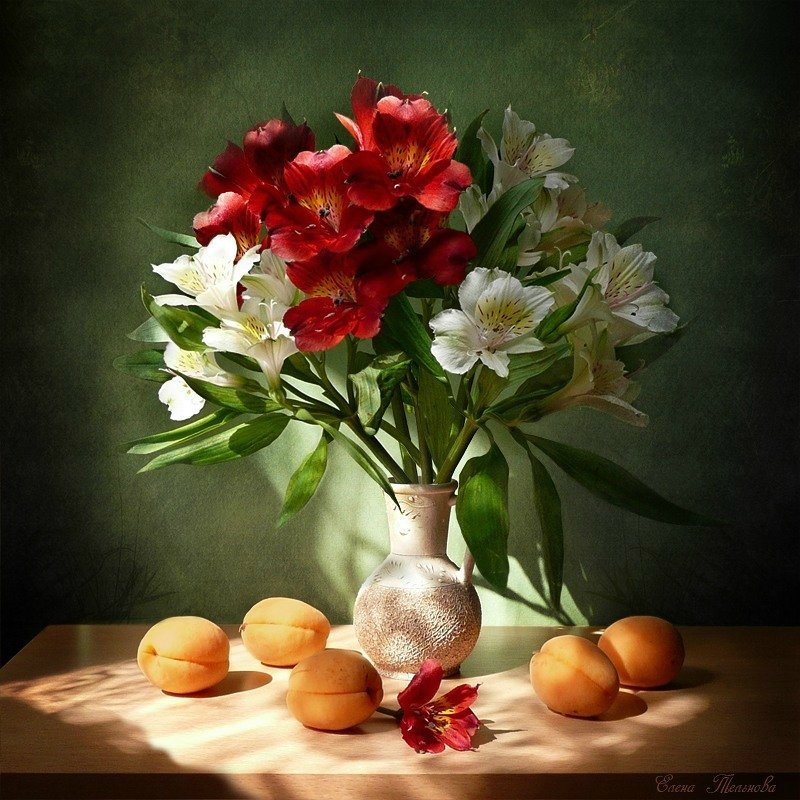 Картинки натюрморты с цветами