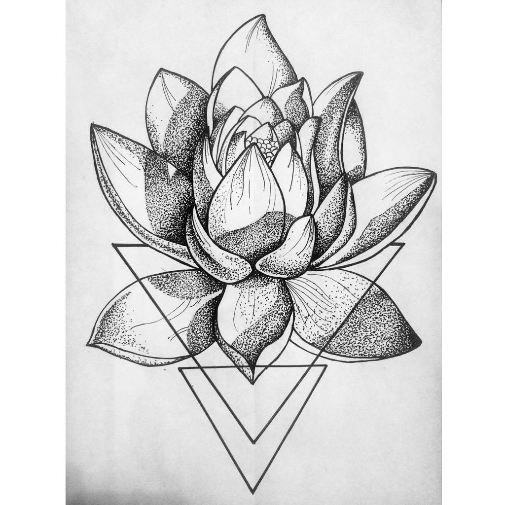 лотос цветок рисунок тату вам лучшие идеи