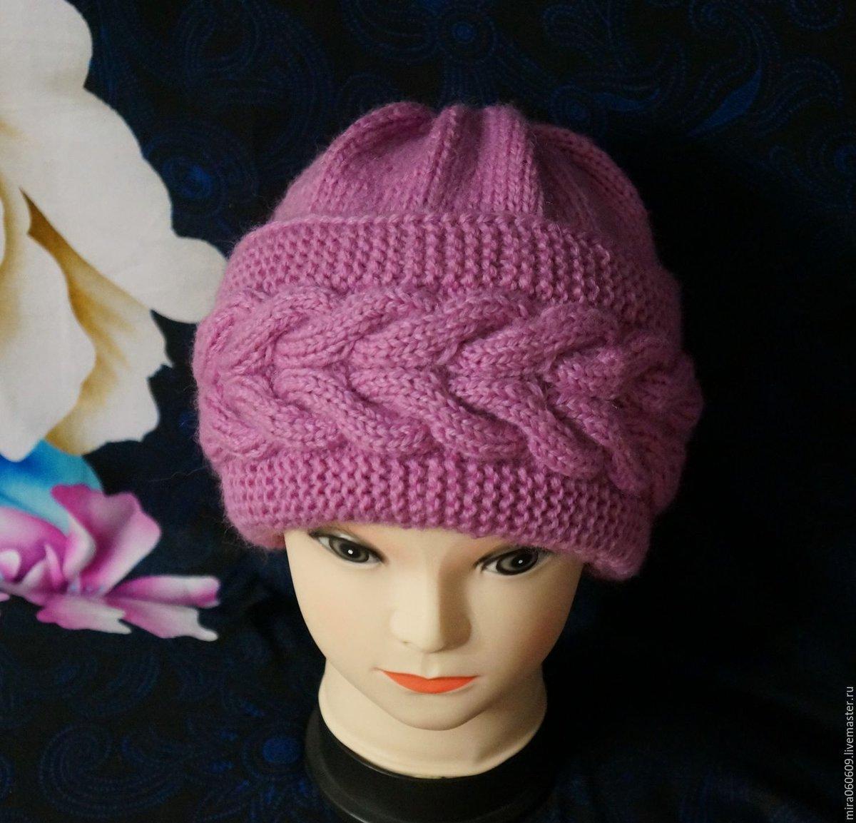 также вязание шапки спицами фото мастер класс насколько такой фасон