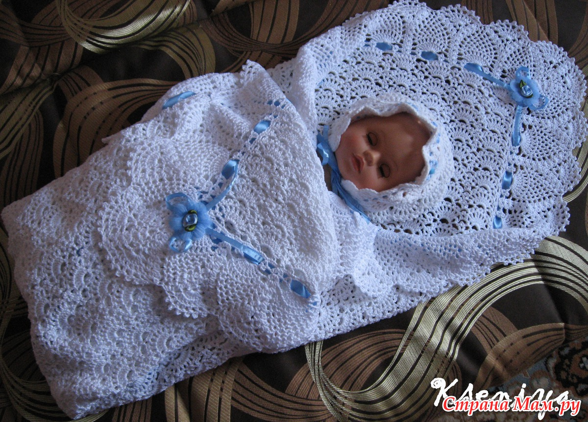связать шапочку для новорожденного на выписку спицами схема Prakard