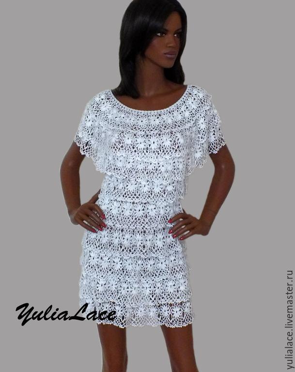 купить вязаное платье белый белое платье платье платье летнее