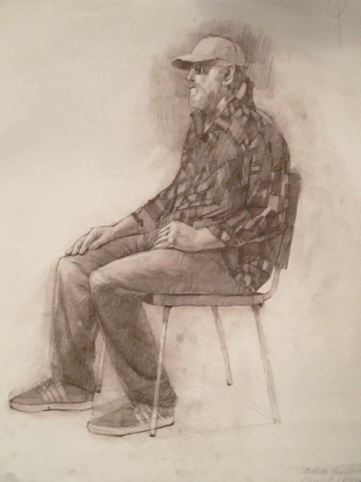это картинки рисунки сидящих людей сохранилось несколько