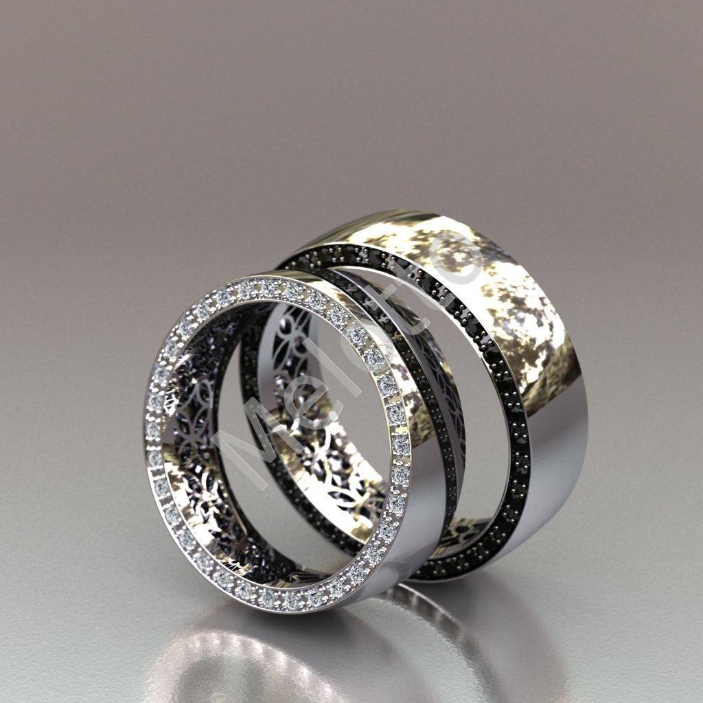 69c0561339cc Обручальные кольца с черными и белыми бриллиантами в торце 145 000 руб.