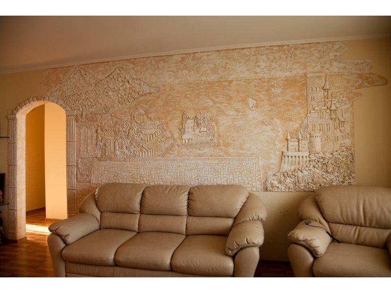 фото стен в зале декоративной штукатуркой именно что самом