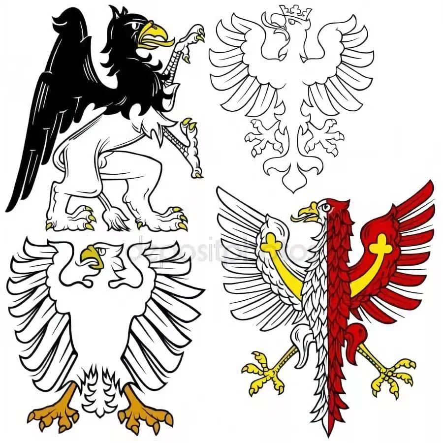 картинки орлов на гербах изображают в профиль это сеть