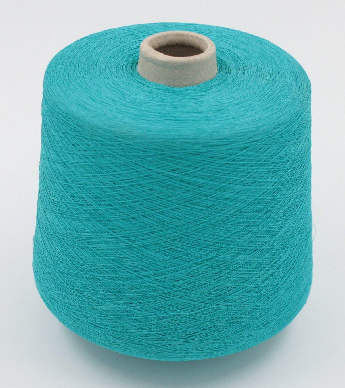 PLANET (Filpucci) 87% лен, 13% полиамид 2300м/100г цвет яркий бирюзово-зеленый giada 674 цена 1400руб/кг отмот 25руб/100г + 20руб/конус в наличии 1 бобина ок.1,0кг-бронь 400