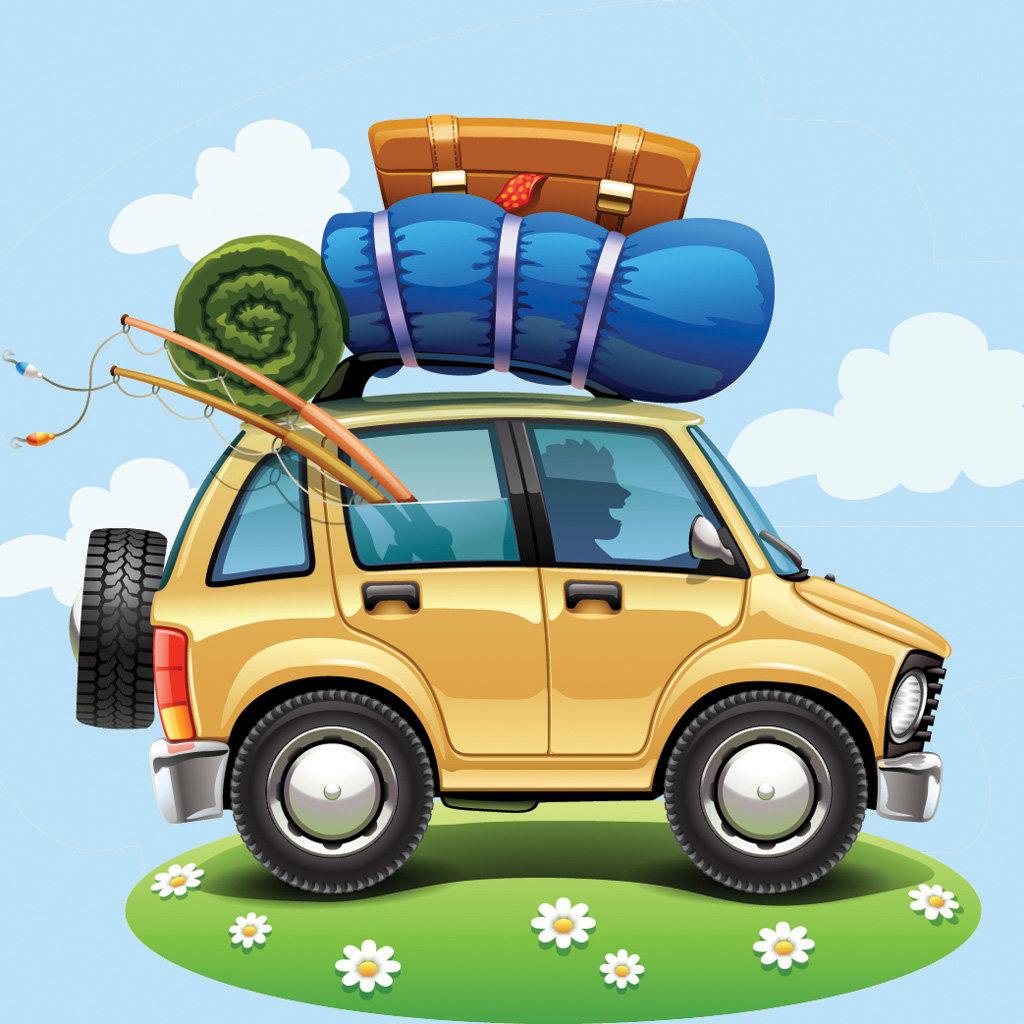 Открытки про путешествия на машине, осень