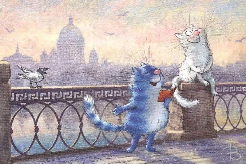 Открытки коты петербурга
