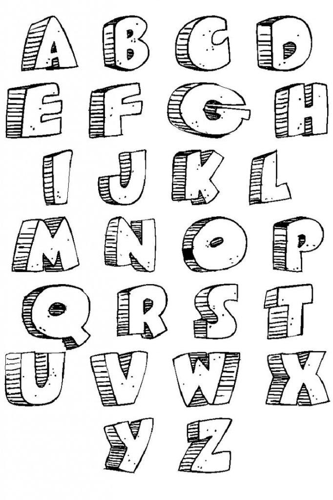 Картинки как нарисовать объемные буквы