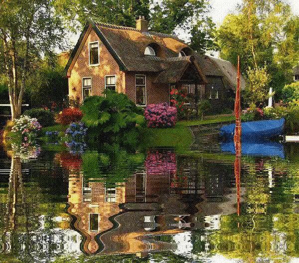 Картинка анимашка дом, пожелание