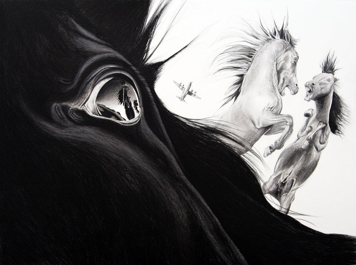 картинки черно белые иллюстрации