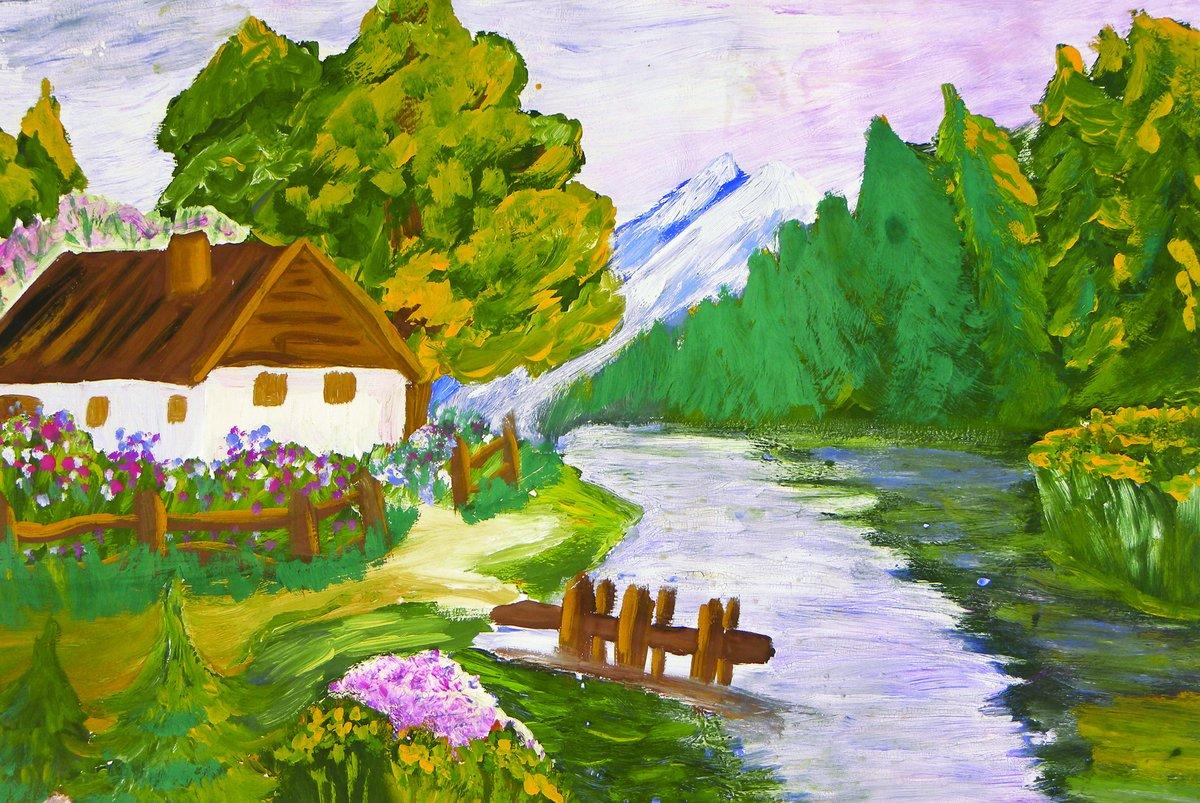 Картинки рисунки россия наша родина поверх ленты
