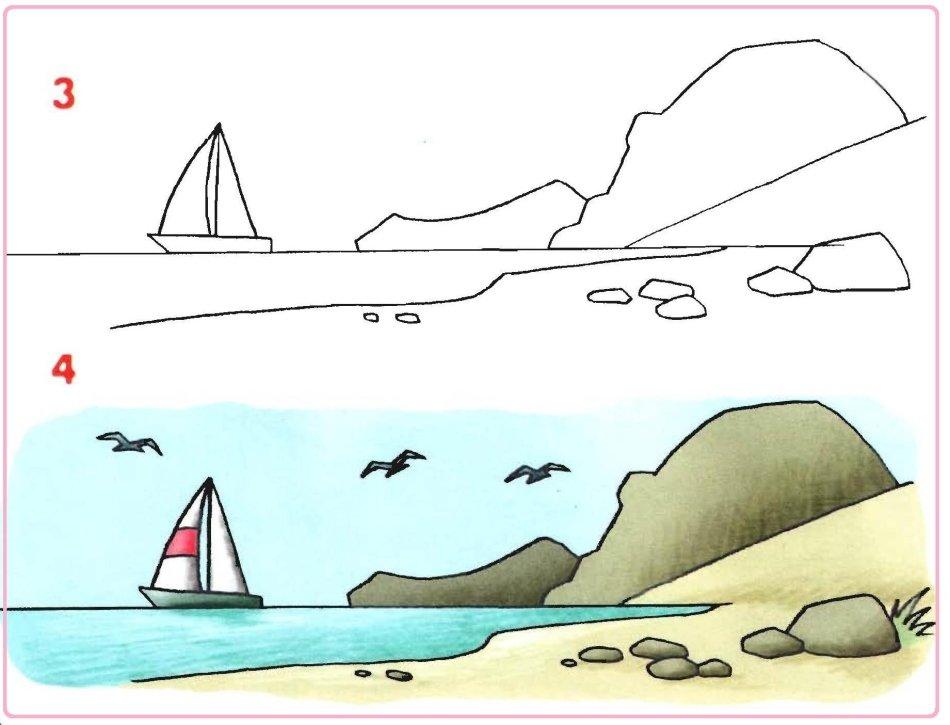 Как нарисовать своими руками картинку черного моря, картинки