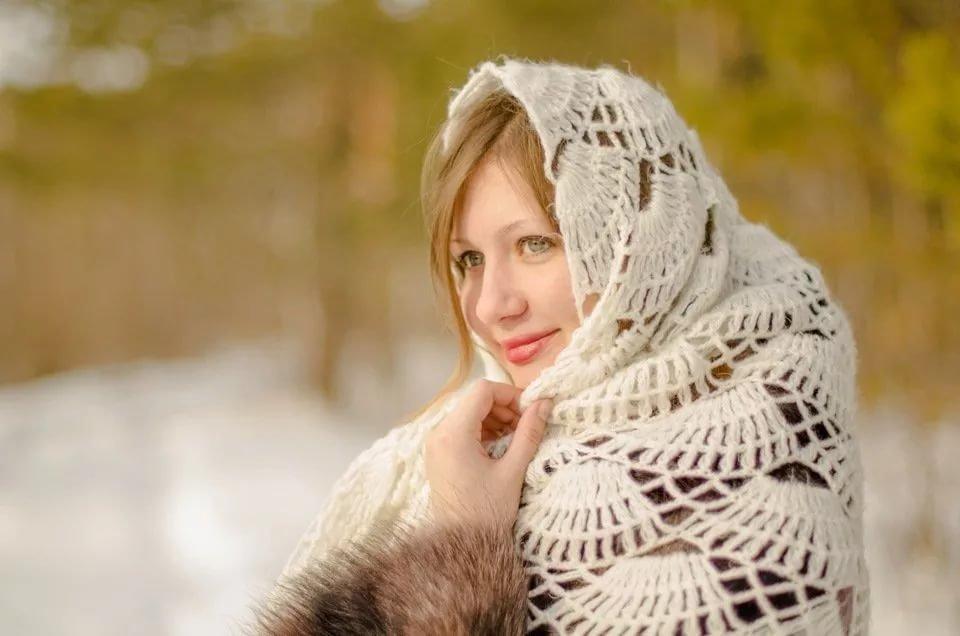 этом женский зимний фотопортрет счастливой случайности