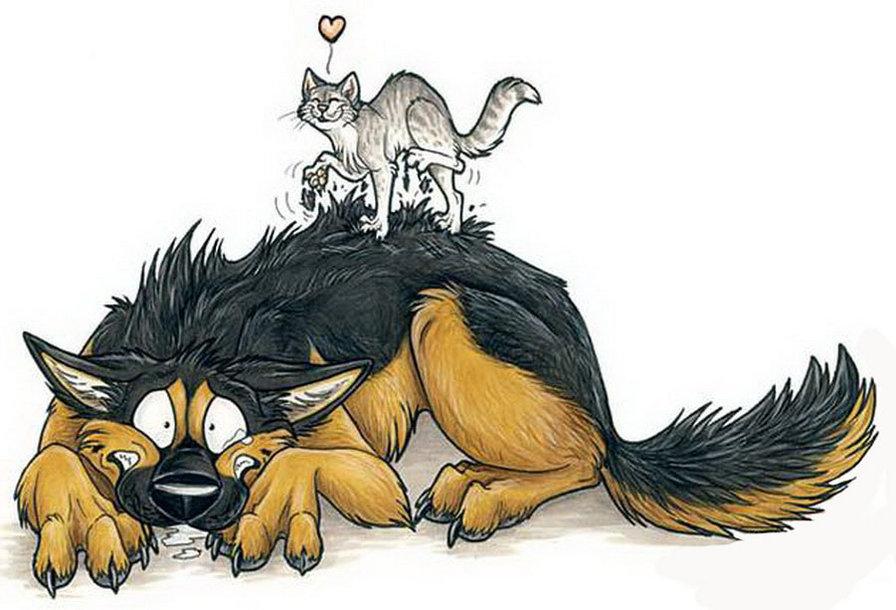 Рисунки прикольных волков