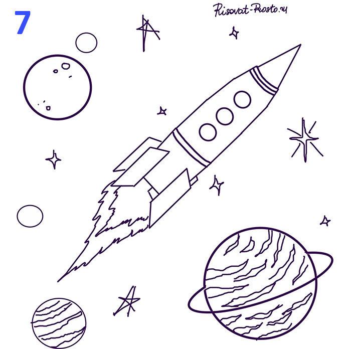 содержит картинка о космосе в карандаше способны корректировать прикус