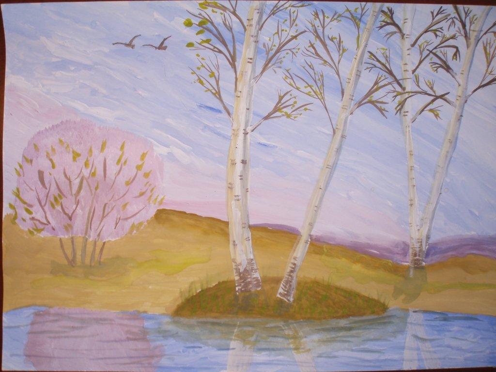 при весна как рисовать дорад оташе