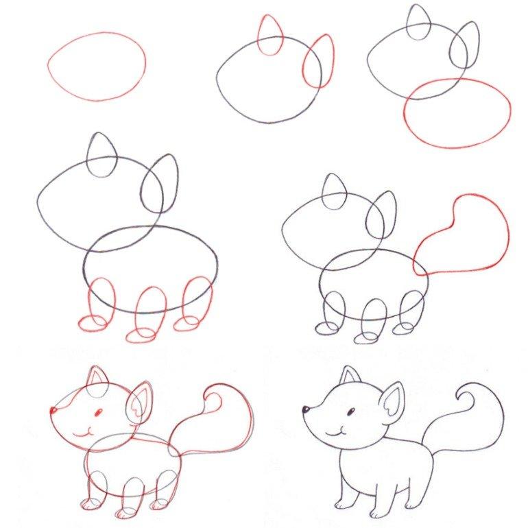 Видео урок, как нарисовать лису карандашами.