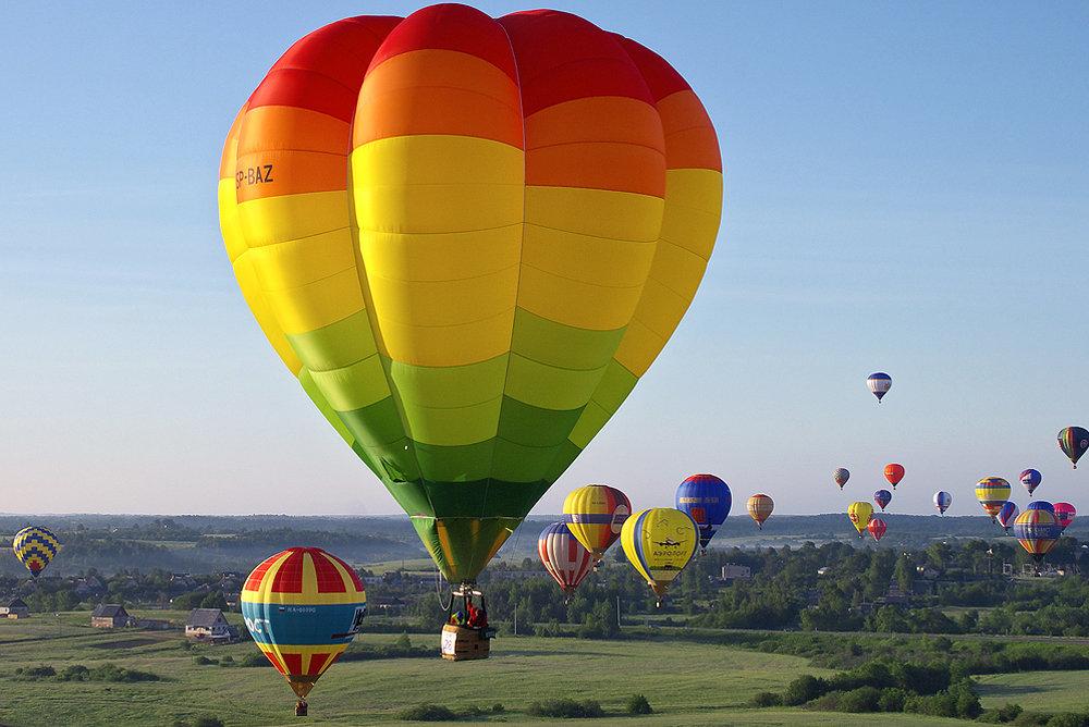 Картинки с воздухоплавательными шарами также