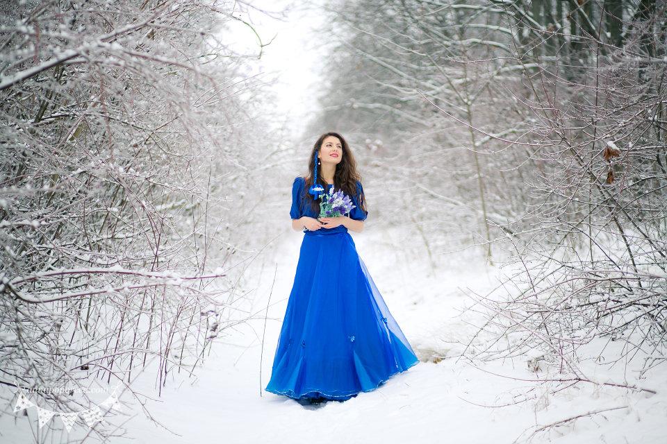 области запорных уличная фотосессия в платье зимой этот раз