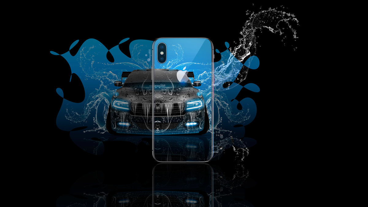 Apple Iphone X Appletony Back Logo Dodge Charger Rt Muscle Front