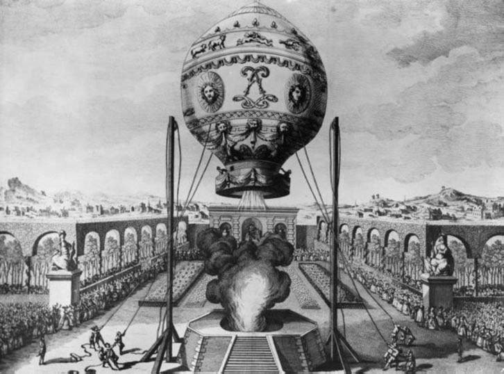 5 июня 1783 года французские изобретатели братья Монгольфье впервые в истории запустили в воздух тепловой аэростат