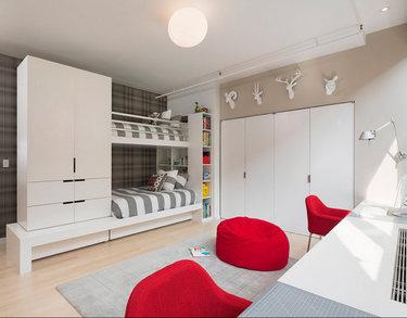 37 карточек в коллекции детская комната с двухъярусной кроватью