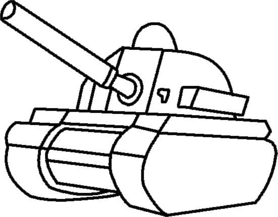 Картинки контуром танков
