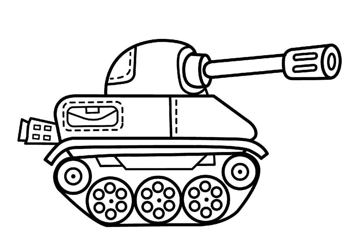 Открытка танк шаблон, картинках