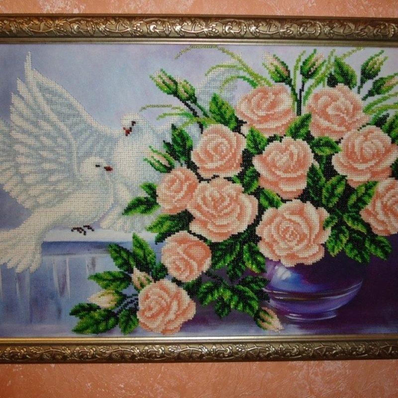 Букеты роз и голуби цена, букет