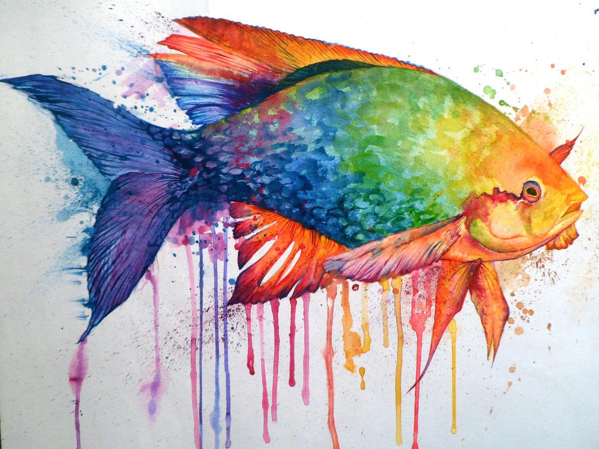 как красиво раскрасить картинку акварелью