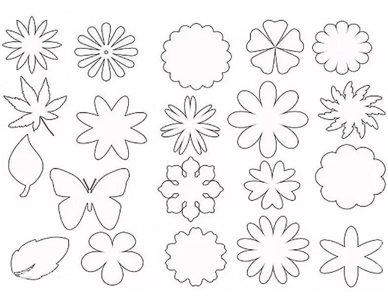 Шаблон цветов для открытки распечатать, заказ