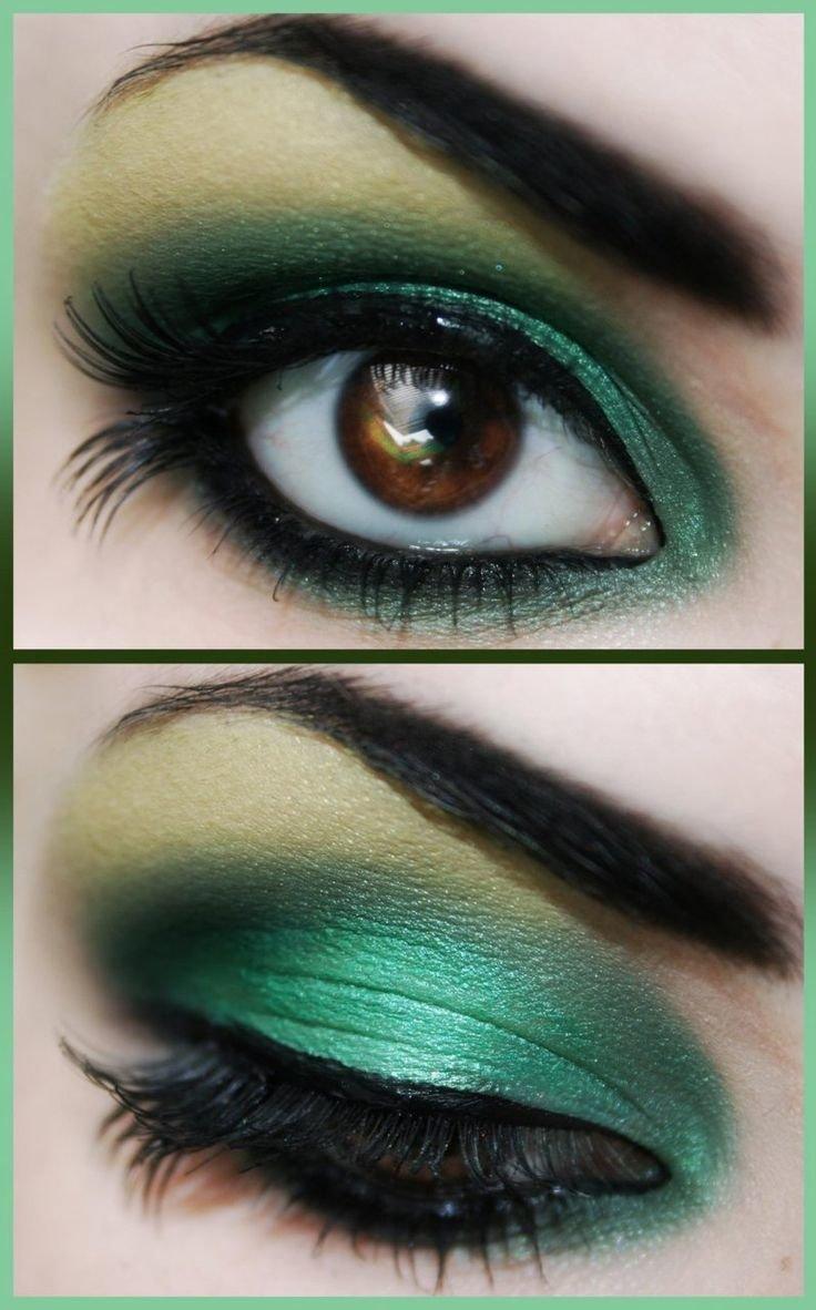 зеленый макияж для карих глаз фото его сочной