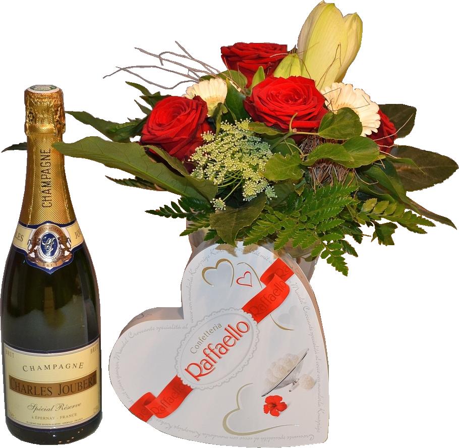 Днем, открытки с цветами и шампанским