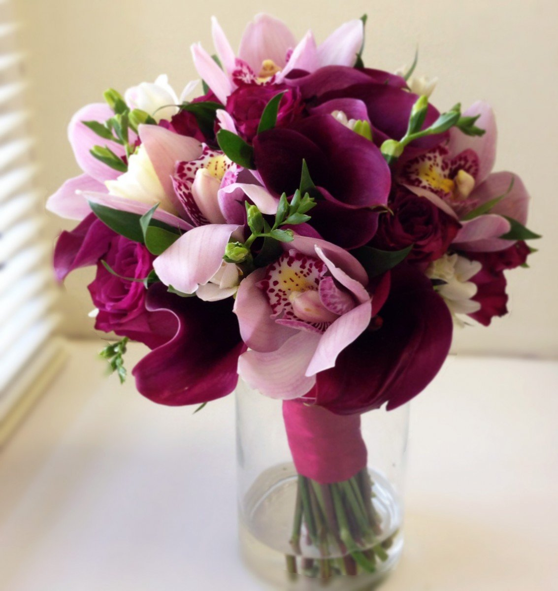 Букет пионов, букет свадебный орхидей калл