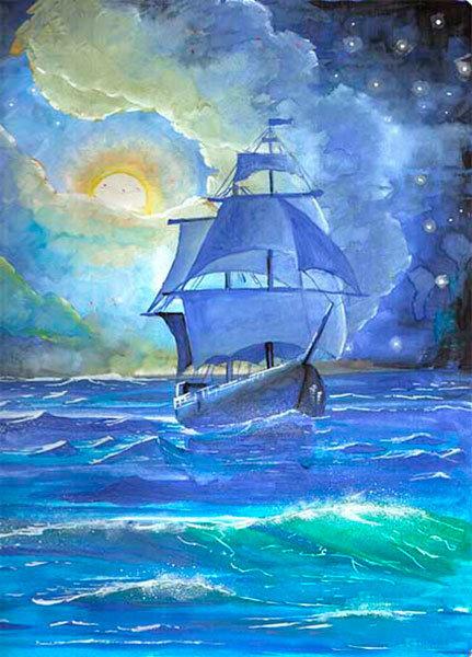 Тройка новым, картинки с кораблями и морем для срисовки