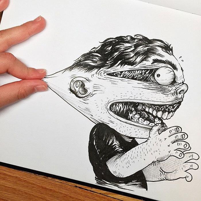 Прикольные необычные рисунки карандашом