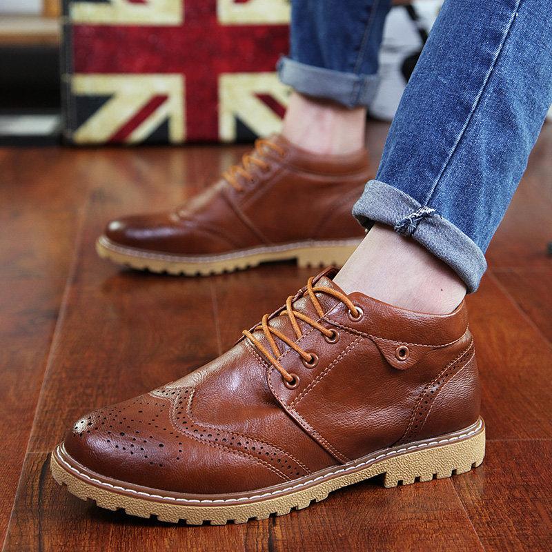 Осенне весенние мужские ботинки фотографии