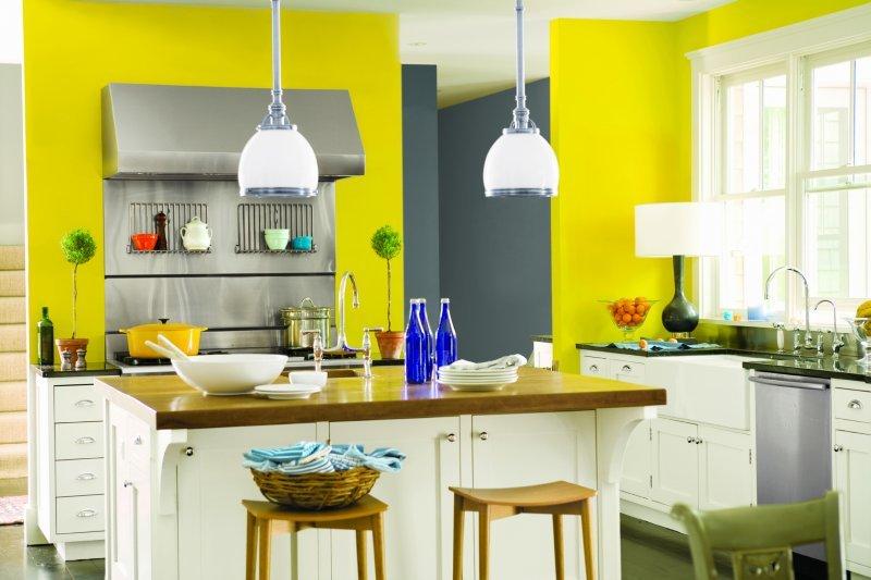 покраска кухни краской варианты фото цвет лимонный включить музыку