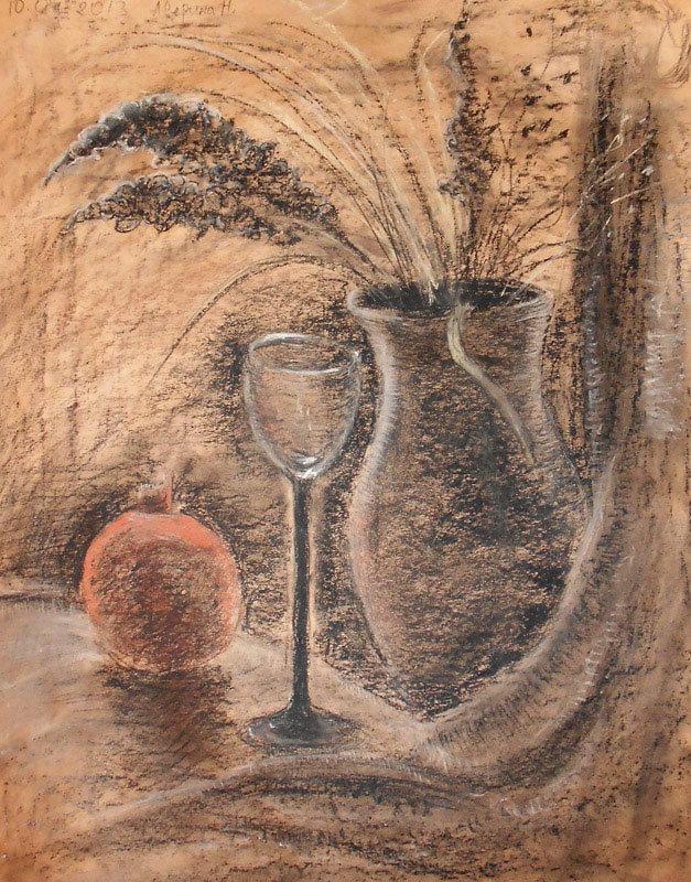 Натюрморт сепией сангиной фото