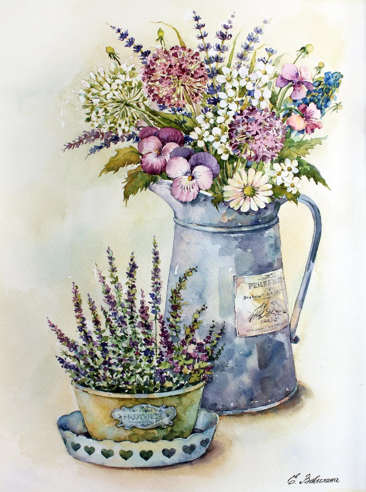 Картинки с цветами в стиле прованс, убрать надписи
