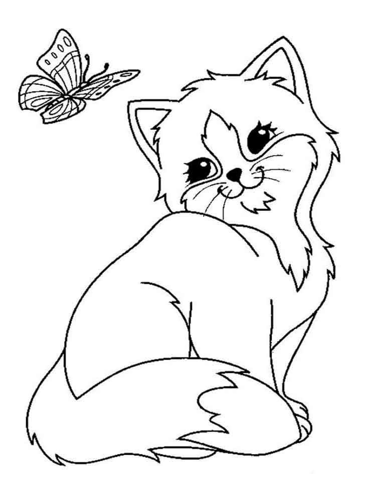 Картинки животные нарисованные распечатать, для девушки