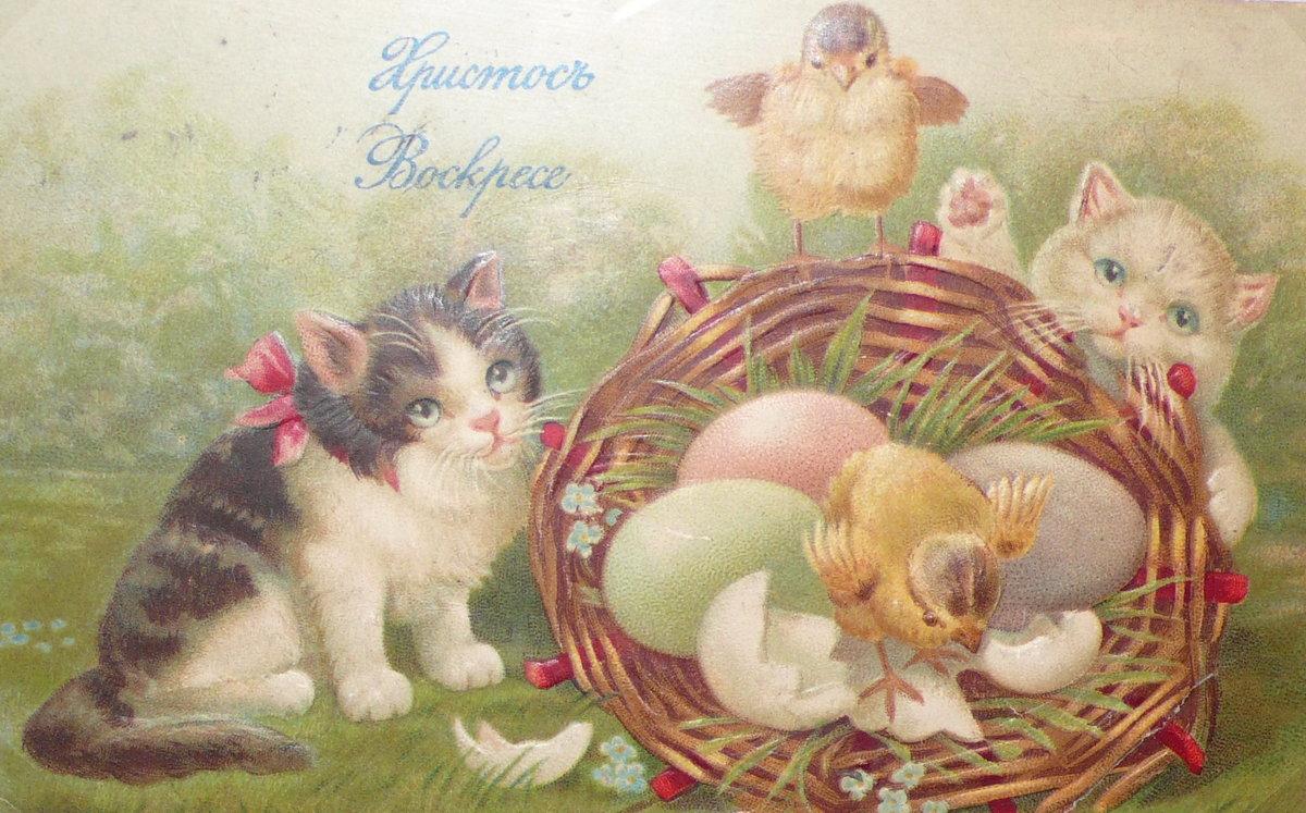 Сентября открытки, русские ретро открытки с пасхой