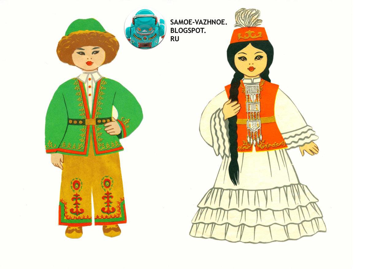 Национальные башкирские костюмы в картинках для детей