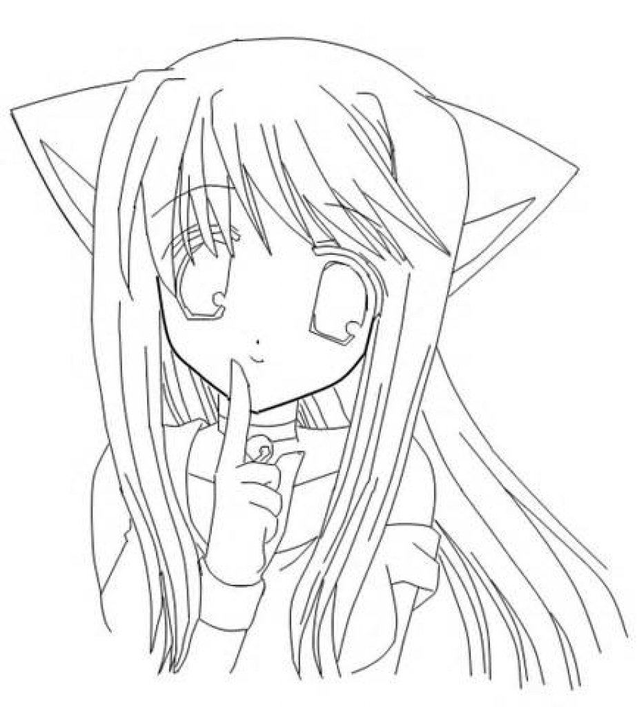 """""""cat-anime-girl-coloring-pages-1.jpg (923×1024)"""" — card of ..."""