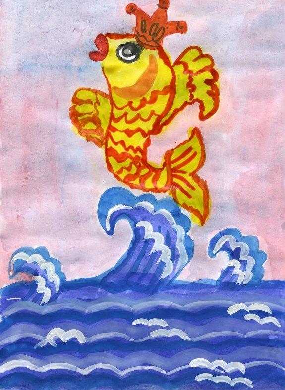 иллюстрация к сказке золотая рыбка рисунки дальняя дорога тебя